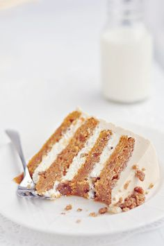 sweet potato layer cake with toasted marshmallow filling & brown sugar cinnamon buttercream