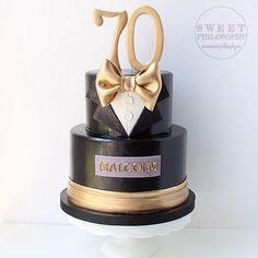 Gatsby Party ~ tuxedo cake via Instagram