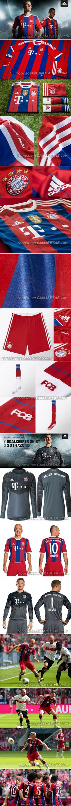 Official F.C. Bayern Munich Home Kit 2014/15