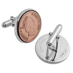 lucky penny silver cufflinks