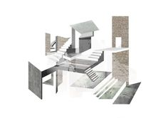 archisketchbook - architecture-sketchbook, a pool of architecture drawings, models and ideas - Julie Skov inside-a-house