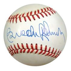 Brooks Robinson Autographed AL Baseball PSA/DNA #M55852 . $59.00. This is an Official American League Baseball that has been hand signed by Brooks Robinson. The autograph has been authenticated by PSA/DNA. It comes with their sticker and matching certificate.