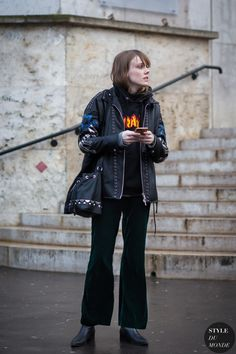 Kiki Willems Street Style Street Fashion Streetsnaps by STYLEDUMONDE Street Style Fashion Photography