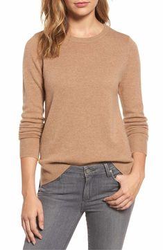 Main Image - Halogen® Crewneck Cashmere Sweater (Regular & Petite) - $89 Nordstrom