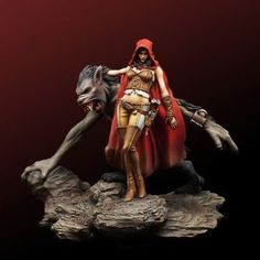 54mm assassin and beast, unpainted unassembled mini toy model miniature figure  #Unbranded