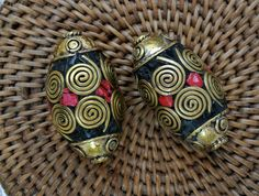 Tibetan Beads   Two by SmallWorldTreasures on Etsy, $20.00