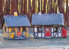 Small houses - ceramics by Hanne sig Helms