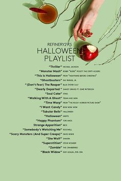 Your Ultimate Halloween Playlist Is Here Shanon Cook of Spotify rounds up the best songs for your playlist this Halloween. The post Your Ultimate Halloween Playlist Is Here appeared first on Halloween Party. Halloween Tags, Happy Halloween, Soirée Halloween, Adornos Halloween, Halloween Designs, Halloween Disfraces, Halloween Birthday, Holidays Halloween, Halloween Party Ideas