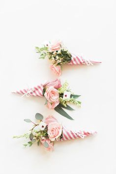DIY Striped Floral Posies: http://www.stylemepretty.com/living/2015/06/26/summer-diys-infused-with-florals/