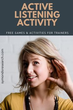 Active Listening Training Activity for Trainers