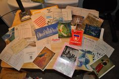 Travel Ephemera - Huge lot of Hotel Receipts, Maps, Postcards, etc from 1970's France by VintageRevisitedWA on Etsy