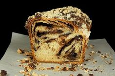 Yeasted chocolate coffee cake