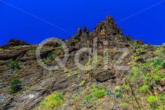 Qdiz Stock Photos Mountains on Tenerife Island in Spain,  #blue #Canary #day #green #island #landmark #landscape #mountain #nature #park #rock #sky #Spain #spring #summer #Tenerife #Travel #view