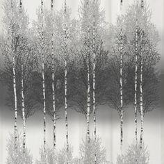 Koivikko Grey Ready Made Curtain Panel