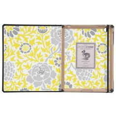 Gray & Yellow Retro Floral Damask iPad Folio Case lowest price for you. In addition you can compare price with another store and read helpful reviews. BuyDeals          Gray & Yellow Retro Floral Damask iPad Folio Case Here a great deal...