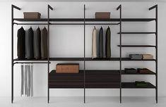 Shelving System - modern - closet - new york - AFFurniture Inc. Small Closet Space, Small Closets, Small Spaces, Wardrobe Room, Open Wardrobe, Vintage Shelving, Make A Closet, Steel Shelving, Closet Shelving