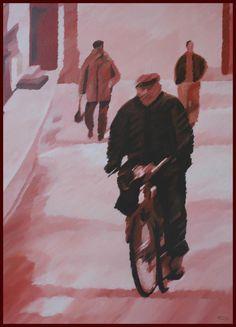 Lisbon.. Acrilic on canvas 100x81cm /made by João Feijó 2007.
