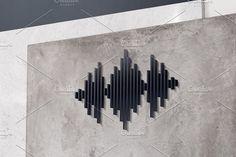 Music Logo Design. Audio Concept by Nadezda Gudeleva on @creativemarket