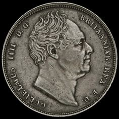 1837 William IV Milled Silver Half Crown, Scarce