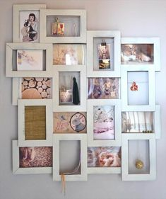 Have a look at these DIY picture frames and let your creativity run wild. 20 DIY Picture Frame Ideas For Personalized And Original Decors Diy Picture Frames On The Wall, Cheap Picture Frames, Collage Picture Frames, Cheap Frames, Collage Photo, Collage Ideas, Diy Photo Frame Cardboard, Picture Frame Crafts, Diy Cardboard