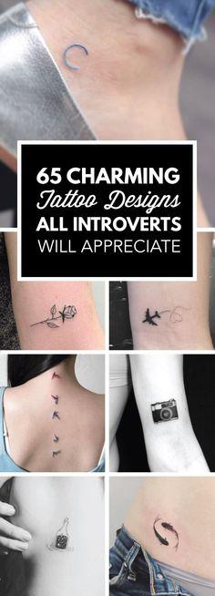 65 Charming Tattoo Designs All Introverts Will Appreciate   TattooBlend #tattooideas