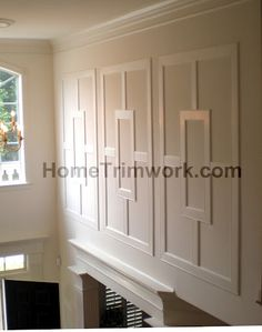 Tall wall frames in two story foyer 2 story foyer trim for Advanced molding and decoration