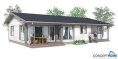 Three bedroom small house plan. Cost-to-Build from $ 85 000