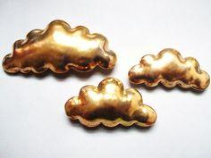 Golden cloud - porcelain wall  cloud pillow. $68.00, via Etsy.