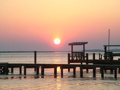 """'Show me the Sunshine' photo contest. Photo submitted by Rose H.- """"Sunset on Kitty Hawk Bay"""" #OBX #KittyHawk #sunset"""