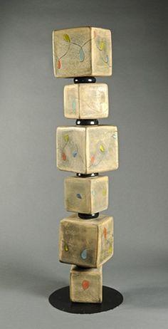 """Peggy Bishop . . . potter's totem 5"""" high . . ."""