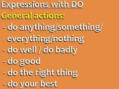 DIFFERENCE BETWEEN DO and MAKE / Common English Expressions