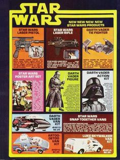 Old Star Wars toys Ad Awesome!! 1970's. Darth vader Van kit?! i think yes!