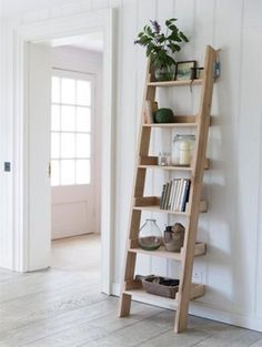 Our Light Raw Oak Small Shelf Ladder (bookcase) is a unique piece of storage furniture. Now with Free Delivery!
