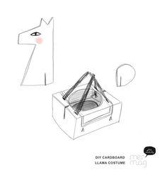 DIY Cardboard Llama Costume | Mermag | Bloglovin'