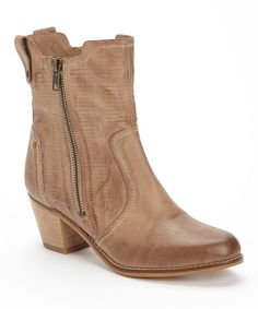 Sand Twist Leather Bootie