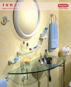"""Nuestra colección de #baño """"NATURE""""! Conjunto de accesorios de baño ideal para este verano ☀ :)    #Toyma #accesorios #portarrollos #jabonera #aro #toallero #colgador #repisa #nature #hogar #FelizLunes"""