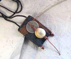 Write It Down  Poem Keeper / Fiber Necklace / Amulet door ArtofJane2, $23.00