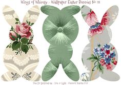 Wallpaper Easter Bunnies – Day 4 of 5 | Wings of Whimsy