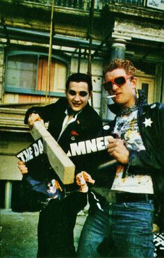 Dave Vanian and Captain Sensible of The Damned, 1970s