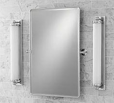Bathroom Sconces On Sale bathroom sconce lights & bathroom wall lamps | pottery barn