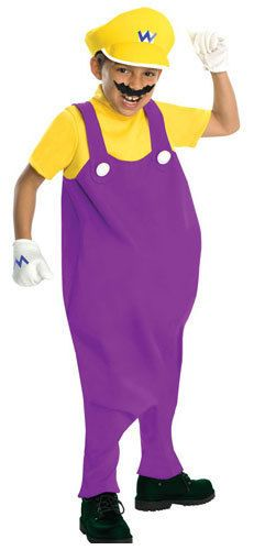 Super Mario Bros Wario Deluxe Kids Costume in Clothing, Shoes & Accessories | eBay