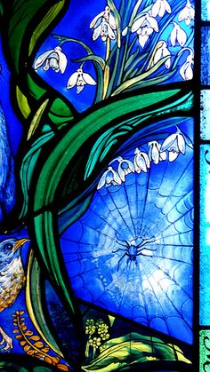Art Glass Studio/handcrafted Glass Iris Flowers Glass Roundel Structural Disabilities
