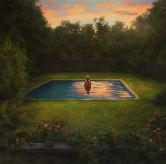 Swimmer at Twilight  Scott Prior