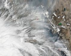 Clouds over California are obscuring the telltale signs of fire activity.  Smoke and clouds are intermingling in this natural-color image which was collected by the Moderate Resolution Imaging Spectroradiometer (MODIS) aboard the Terra satellite on September 12, 2015.