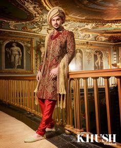 Be the man of the moment with a sherwani by Yuvish +44(0)7877 118 289 www.yuvish.co.uk