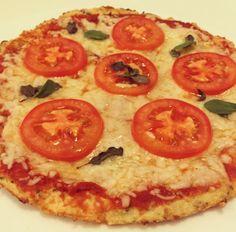 Receita de Pizza com Massa de Couve-Flor