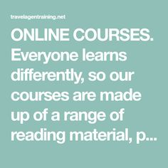 ONLINE COURSES. Everyone learns differently, so our courses are made up of a range of reading material, podcasts and videos. So, however you learn best, you'll find everything you need on GTBEC 10 INTERPERSONAL SKILLS – TO LAND YOU… What Are Interpersonal Skills, Travel Agent Career, Reading Material, Dream Job, Online Courses, Dreaming Of You, How To Become, Range, Learning