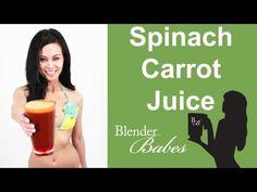 Spinach Carrot Juice recipe made using a Vitamix or Blendtec blender (http://juicers-best.com/blogs/juice-recipes/tagged/carrot-juice-recipe)