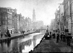 Nieuwe Zijds Achterburgwal omstreeks 1910.