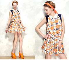 Womens Star Vintage Dress